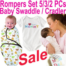 ★Baby Rompers Set / Swaddle Infant Wrap Sleeping Bag★ 2018 Year End Sale 80% Off