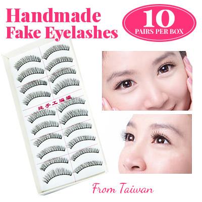 Taiwan Handmade Eye lashes Fake Eyelashes 10 Pair per box Double Eyelid Tape/Eye Lid Stickers