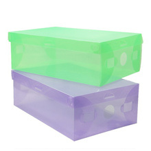 3 PCS Box/Kotak Sepatu Plastik Transparan Warna Warni