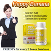 [Buy 2 Boxes Free 30s] Happy Banana Sleeping Pill Prevent Insomnia Serotonin Sleep Aid Reduce Stress