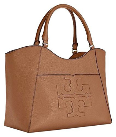 1af482282847 Tory Burch Bombe T Leather E/W Tote Bag Women s Leather Handbag