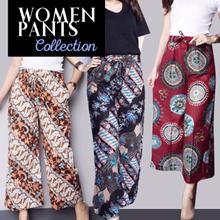 Celana Panjang Kulot Batik / Celana Jogger - Celana Kantor - Celana Strip Stretch