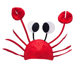 Funny Christmas Red Lobster Crab Sea Animal Hat  Costume Accessory Adult Child Cap Gift 2016