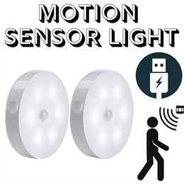Motion Sensor Detection Night Light Adjustable Dimmable LED Light Magnet Rechargeable Small Compact