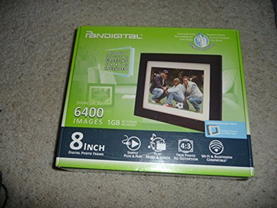 Qoo10 Pandigital Pi8056w01b 8 Inch Lcd Digital Photo Frame