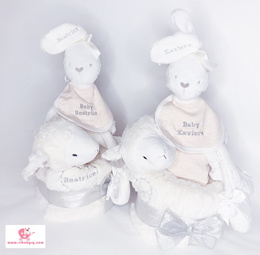 ♥ Personalized Name Newborn Gift Hamper ♥Xmas Christmas ♥ Infant Gift Set♥ One Month Diaper Cake
