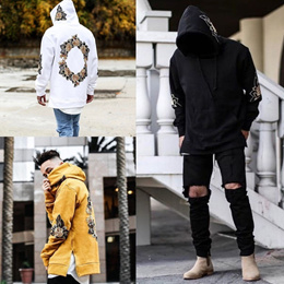 b87370fca95 COUPON  Fashion Street Style Men Hooded Sweatshirts Casual Loose Long  Sleeve Printed Pullovers Top