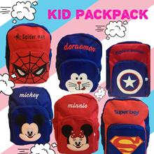Cartoon Kid Backpack Children Bag Spiderman Avenger Superman Mickey Minnie Doraemo