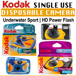 Kodak Single Use Disposable Camera | Power Flash | Underwater Sport Camera | 35MM Film