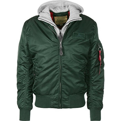 best website 7036d 9a717 [directly from Germany] Alpha Industries Mens Bomber Jacket MA-1 D-Tec,  Green (Dark Petrol 353), Lar