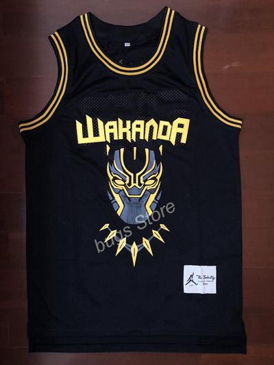 27a9902abd9 NEW Black Panther Wakanda Killmonger Official Movie Basketball Jersey