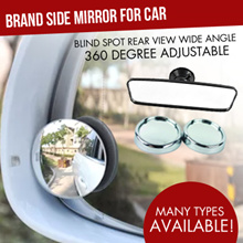 Brand Side Mirror for car* Blind Spot Rear View Wide Angle *360 Degree Adjustable*Auto Car Door Cras