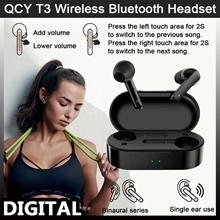 QCY T3 True Wireless Bluetooth Headset 3D Earphone Stereo Earbuds