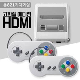 재고확보  클래식 미니 슈퍼패미컴 게임기 / HDMI 고화질/821까지게임/추억의 오락실 게임기/ 관부가세포함/무료배송