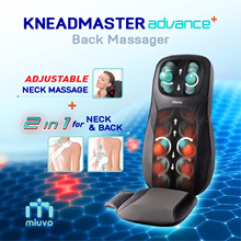 KneadMaster Advance Neck Back Massager ★ Adjustable neck massage ★ Massage Seat Cushion Chair type