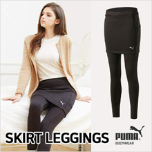[ PUMA BODYWEAR ] SKIRT LEGGINGS ★ FUR / DRY / SLIM LINE / POCKET