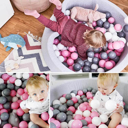 wholesale 100pcs/lot 5.5cm Baby Ball Soft Plastic Ocean Balls Swimming Ball Pit Funny Toys Eco-Frien