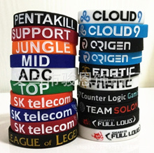 1 PCS  LoL League of Legends Top Jungle Adc Mid Wristband Silicone bracelet