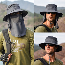 Fisherman hat male sun hat summer outdoor quick-drying sunscreen hat fishing breathable sun hat female face cap