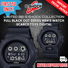 [MADE IN JAPAN] [Limited Nylon Edition] Casio G-Shock Full Black Out Series DW-6900BB-1 DW6900BBN
