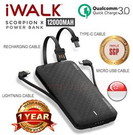 【NDP Sale】iWalk Scorpion X 12000mah Powerbank UBT12000X Power Bank Battery Charger★1yr Warranty