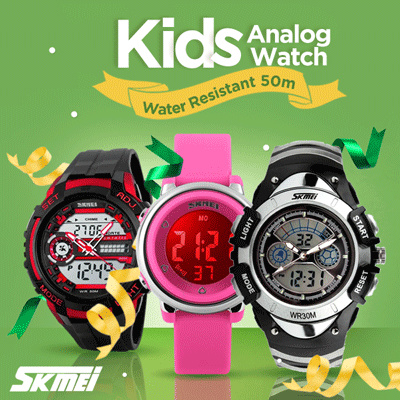 Jam Tangan Anak Digital Analog SKMEI COLLECTION Water Resistant 50m Deals for only Rp92.500 instead of Rp92.500