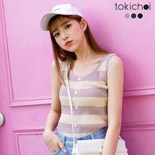 TOKICHOI - Striped Vest-180859