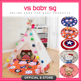 ♥Grab N Go PlayMat with Teepee Tent ♥ Indoor Play tent ♥ Local Seller