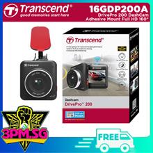 Transcend 16GDP200 DrivePro 200 DashCam W Adhesive Full HD/160°/Wifi/G-Sensor/2.4 LCD 1 Y Warranty