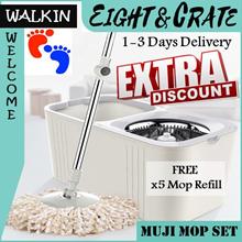 🇸🇬[Magic Spin Mop]🇸🇬 Spin Dry Mop Set/ Mop Accessories/ Spray-Mop