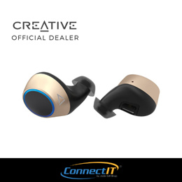 a89b6878491 ( PRE-ORDER) Creative Outlier Gold Truly Wireless Bluetooth V5.0 Earbuds (