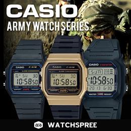*CASIO GENUINE* ARMY WATCHES SERIES. F91W F200W F94WA. Digital Sports.