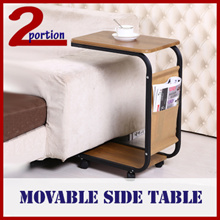 MOVABLE ROLLABLE SIDE TABLE WITH WHEELS / COFFEE TABLE / OFFICE PEDESTAL