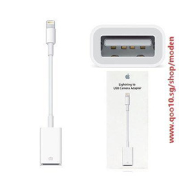 Apple Lightning to USB Camera Adapter for iPad Mini iPad Air and iPhone 5/5S iPhone 6 iPhone 6 Plus iPhone 6S/6S Plus (For iPhone Please Update IOS to 9.2)