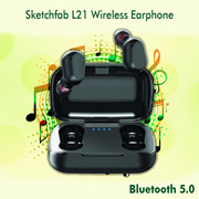 Sketchfab L21 Truly Wireless Bluetooth In Ear Earphone with Mic (Black)