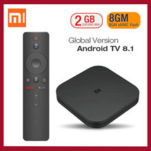 Global Xiaomi Mi TV Box S Android TV 8.1 2G 8G WIFI Google Cast Netflix