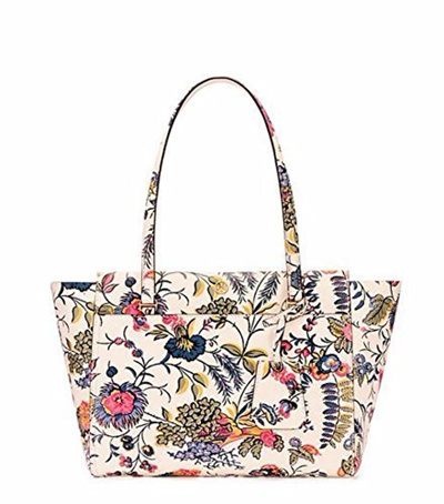 650989fbc59 Qoo10 - Tory Burch Parker Leather Small Floral Tote