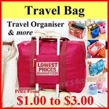 【Cheapest】$2.99 Travel Bag ★ Travel Organiser ★ Cosmetics Bag ★ Bag in Bag ★ Underwear Pouch