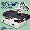 Electrolux Table Top Cooker ETG 65 | Kompor Gas 2 Tungku - FREE Kogara Wajan Omelette Mini