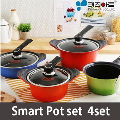 Qoo10 kitchen art metal mold casting ceramic pot set for Qoo10 kitchen set