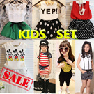 Summer new! Popular new! Childrens clothing! Popular set! Children dress shirt + / shorts. Very cute girl! The best combination and loose Chiffon sleeves shirt + trousers striped T-shirt SJ99