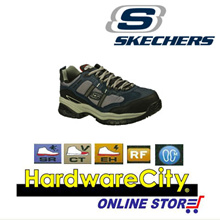 Skechers 77013 Work Relaxed Fit: Soft Stride - Grinnell Comp Shoes - NVGY