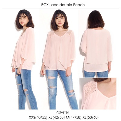 BCX Lace Double Peach