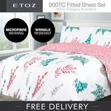 [ETOZ] 5 NEW DESIGNS! 900 TC Fitted Sheet Set★★Printed Bedsheet