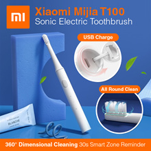 [SUPER SALE] [Newest Version]  Xiaomi Mijia Model T100 Sonic Electric Toothbrush Whitening Oral