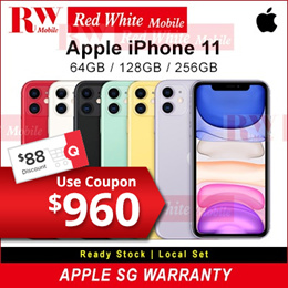 Apple iPhone 11 Local Set With Singapore Apple Warranty 12 Mths