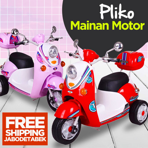 Pliko Mainan Motor Aki Scoopy M338 PMB_Free Ongkir Jabodetabek Deals for only Rp1.056.000 instead of Rp1.056.000