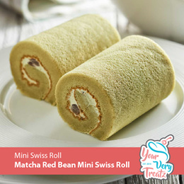 Mini Matcha Red Bean Swiss Roll (280g x 6 Rolls)