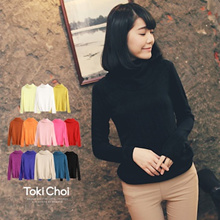 TOKICHOI - Multi Color High-Necked Long Sleeve Top - 0009127