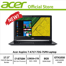 Acer Aspire 7 A717-72G-75P8 Performance Laptop